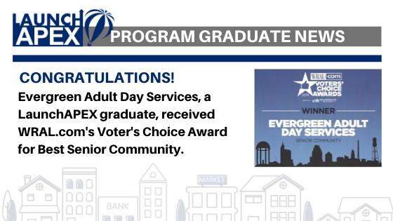 LaunchAPEX Program Graduate WRAL Award